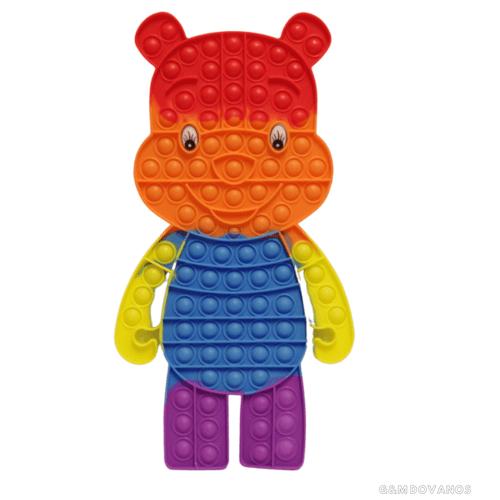 Antistresinis silikoninis žaislas POP IT, meškiukas