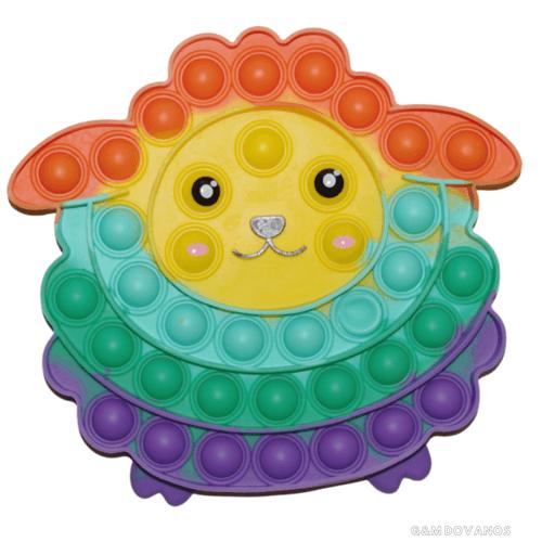Antistresinis silikoninis žaislas POP IT, avinukas