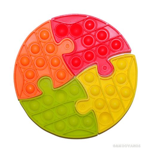 Silikoninis žaislas POP IT, 4 dalių