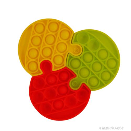 Silikoninis žaislas POP IT, 3 dalys