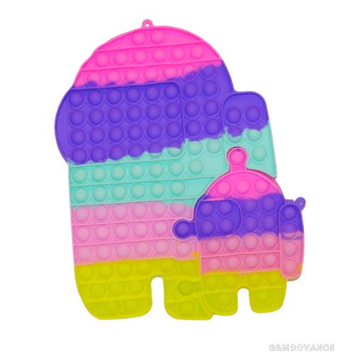 Antistresinis silikoninis žaislas POP IT, robotai 2d.
