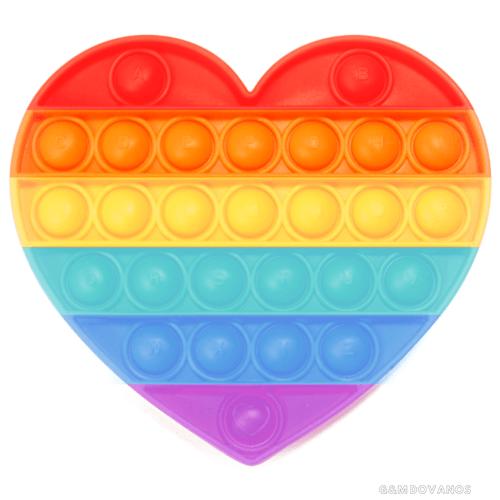 Antistresinis silikoninis žaislas POP IT, širdelė