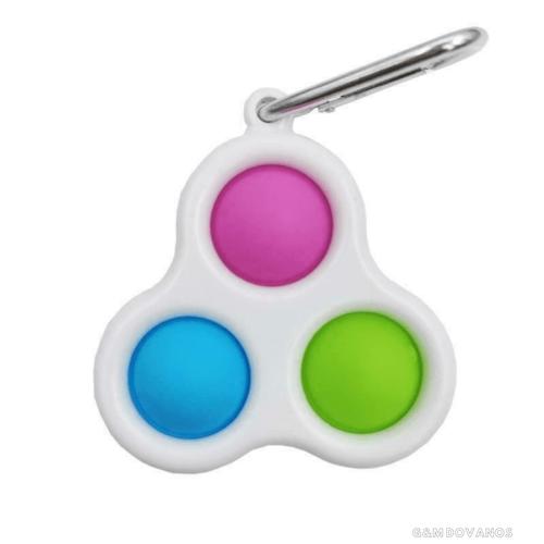 Antistresinis silikoninis žaislas su karabinu POP IT